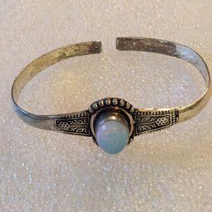 Vintage moonstone cuff